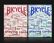 Marked Invisible Ink Poker Cheat Paper Bicycle Playing Cards For Lenses