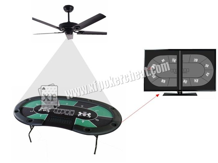 Pin Hole Ceiling Fan Camera With Poker Game Monitoring System For Texas Holdem