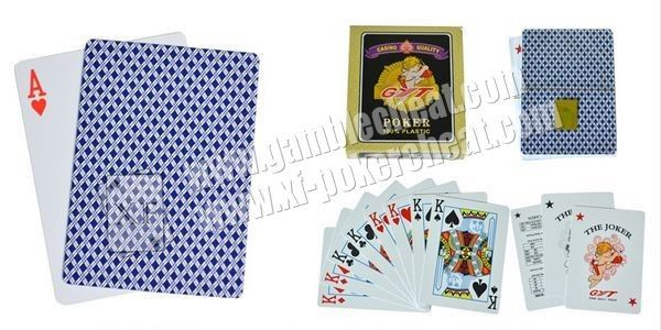 Plastic GYT Ink Marked Invisible Playing Cards For UV And IR Lenses